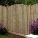 Bowed Up Featheredge fence Panels