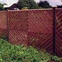 Chevron Pale fence Panels