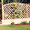 Diamond Trellis Bowed Up Trellis for fence Panels