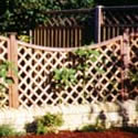 Diamond Trellis Dip Down Trellis for fence Panels