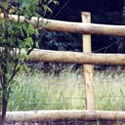 Half Round Post and Rail Picket fence Panels
