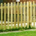 Round Top Picket Picket fence Panels