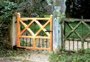 Custom Design wooden Gates