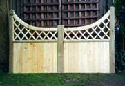 Diamond Top Normandy wooden Gates