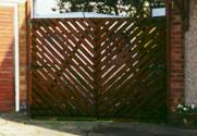 Hit and Miss Chevron wooden Gates