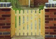 Mortise and Tennon Picket wooden Gates