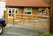 Pair of Estate wooden Gates