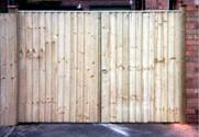 Pair of Featheredge Entrance wooden Gates