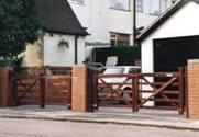 Pair of Field wooden Gates 1