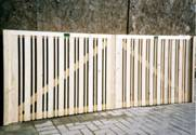 Pair of Hit and Miss Entrance wooden Gates