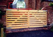Pair of Hit and Miss wooden Gates