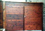 Pair of Shiplap Entrance wooden Gates