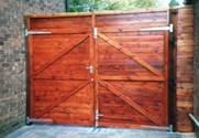 Rear Entrance wooden Gates