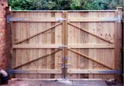 Rear of Pair of Entrance wooden Gates