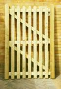 Sawn Softwood Garden Picket wooden Gates