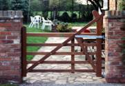 Single Hardwood Estate wooden Gates