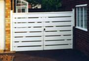 Slatted Entrance wooden Gates 2