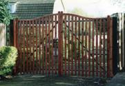 Slatted Normandy wooden gates