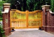 Slatted Normandy wooden Gates 1