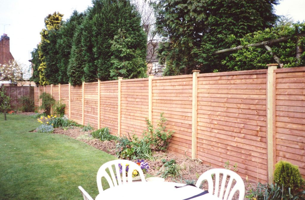 dark wooden fence panels