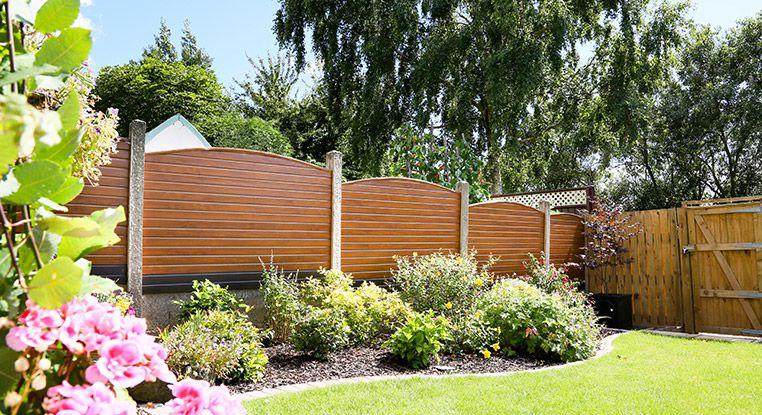 Wooden fence around a garden