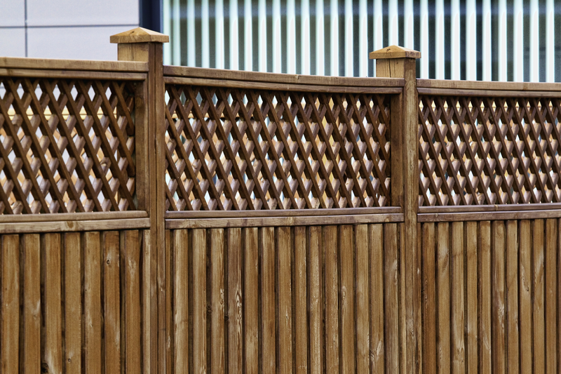 Wooden fence and wooden fence posts