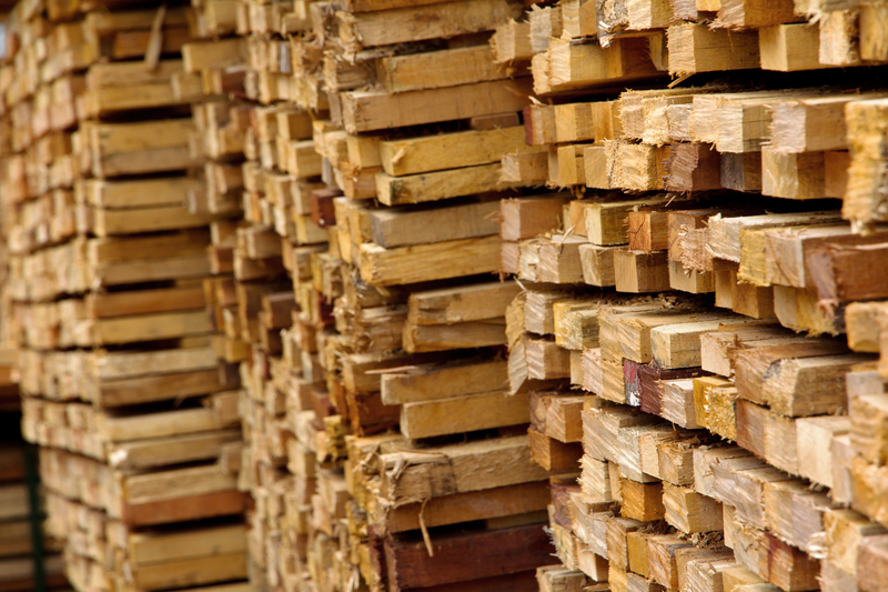 Pile of timber wood